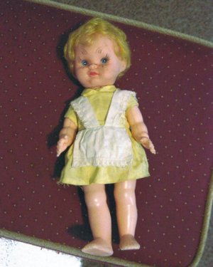 "Old Vintage Celluloid 11"" Doll Original Clothes 1950's � 1960s #600194"