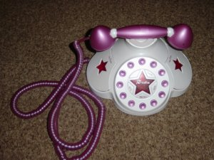 Bratz Funkadelic Pink & White Fashion Telephone Phone #600239