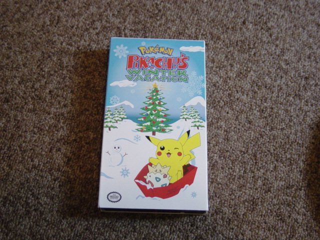 VHS Video Nintendo Pokemon Pikachu's Winter Vacation at Little Shoppe of Toys #600342