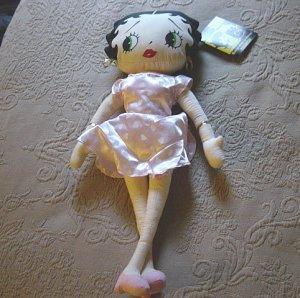 "17"" Betty Boop KellyToy 2003 Cheerleader Betty Doll #600375"