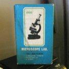 Vintage Penney's Microscope Lab Kit 100-300 X 3 Turrets 5 Slides Original Box #600493