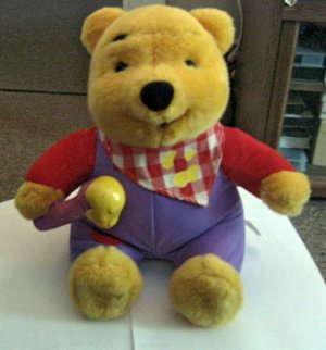 1999 Mattel Disney Winnie The Pooh Honey Animated Talking Plush Bear Toy #600504