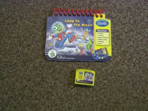 Leappad Leap Frog Pad LeapFrog Math Learning Book and Cartridge Leap to the Moon #600524