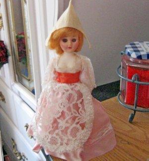 "Old Vintage Celluloid 7 1/2"" Dutch Doll Original Clothes #600583"