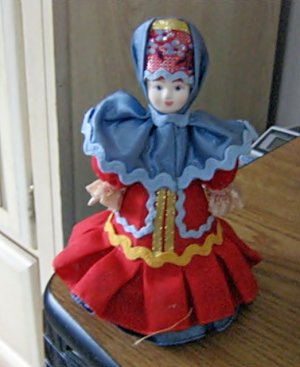 Collectible Russian Made Traditional Costume Doll #600601
