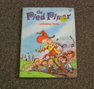 Unused Vintage Coloring Book The Pied Piper #600623