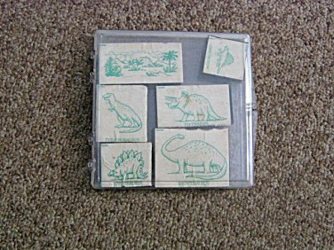 Six Dinosaur and Jurassic Park Themed Ink Stampers in Case #600625
