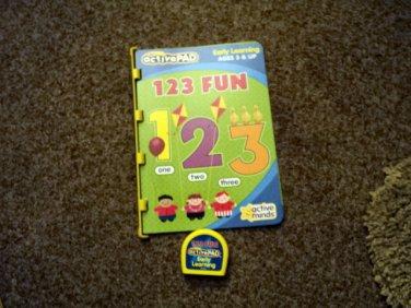 ActivePAD 123 Fun Book and Cartridge #600649