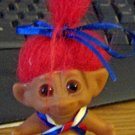 Cute Little Red Haired Girl Troll in Red, White and Blue #600521