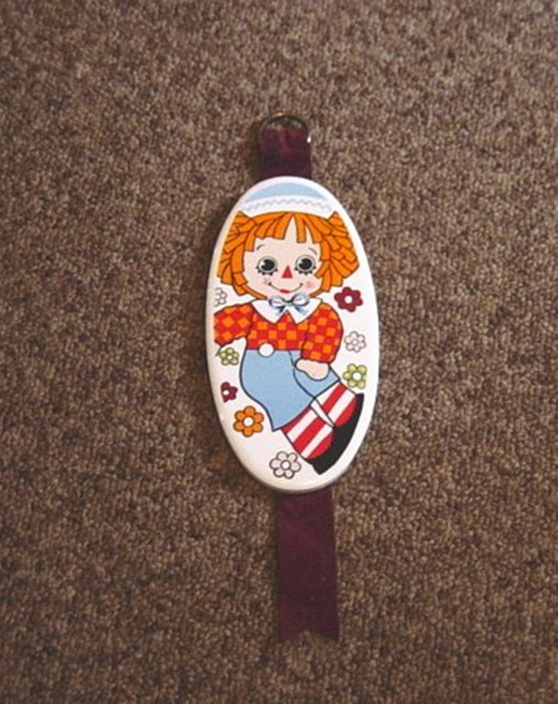 Small Oval Enesco Porcelain Raggedy Andy Wall Plaque  #600334