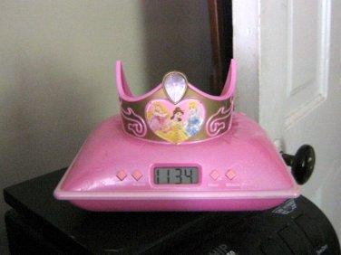 Disney Princess Tiara Projection Alarm Clock  #600477