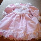 Beautiful Pink and White Handmade Dress for 19-24 Inch Doll #600348