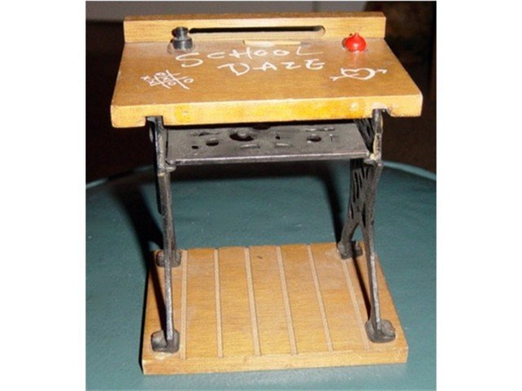 Wood and Metal School Daze Desk for Doll House #600001