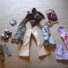 Lot of 13 Bratz Doll Clothes, Shoes, Purse, Sunglasses,  Comb and Brush # 300384