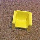 Vintage 1973 Mattel Yellow Retro Doll House Chair #600603