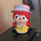 Vintage #6667 Raggedy Ann Headvase Planter Relpo Made in Japan #600614
