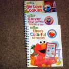 Sesame Streets Grover, Elmo, Cookie Monster Three Books and  Cartridges for Story Reader #600671
