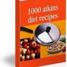 ATKINS DIET LOW CARB Recipes ~ on Cd