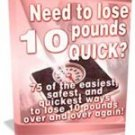 Lose 10 Pounds Quick    on Cd