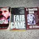 3 true crime book lot Fair Game 1993 ,Deadfall 2006 and A Beautiful Child 2004 paperback