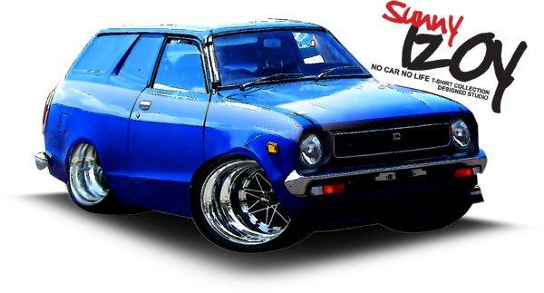 Datsun Sunny 120Y Van draw Car Tees