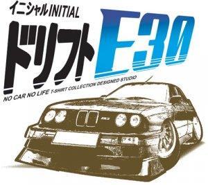 BMW E30 Evo M3 Drift 2 Car Tees