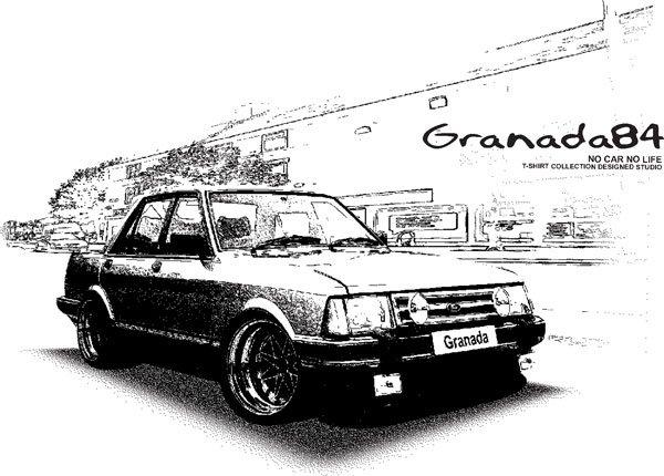 Ford granada 1984 Retro Car Tees