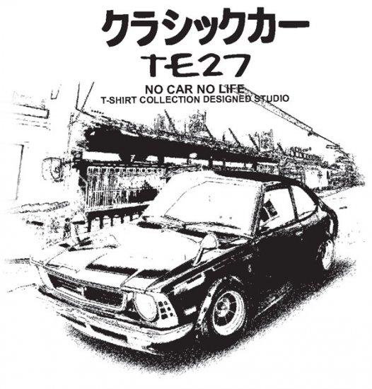 Toyota Corolla TE27 classic Town Car Tees