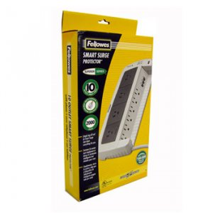 FELLOWES 10 OUTLET SURGE PROTECTOR
