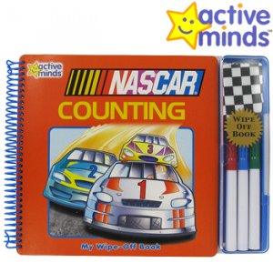 ACTIVE MINDS NASCAR COUNTING WIPE-OFF BOOK