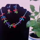 Necklace & Earrings- Multicolor
