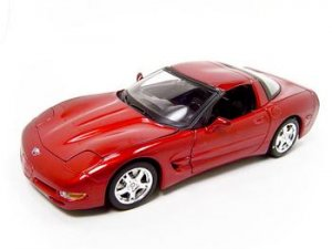 CHEVROLET CORVETTE C5 COUPE RED 1:18 DIECAST MODEL BURAGO