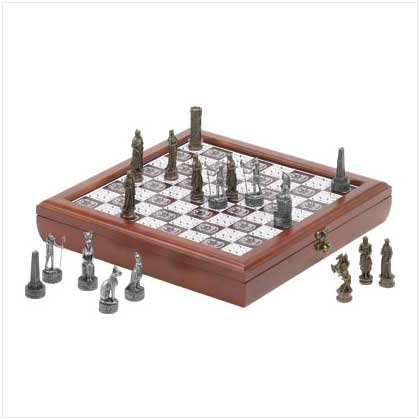 EGYPTION CHESS SET  (FREE SHIPPING & ON SALE!!! was 153.99)