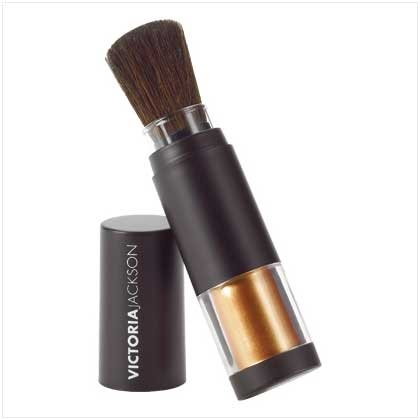 "VICTORIA JACKSON SHIMMER POWDER BRUSHES  ""BRONZE"""