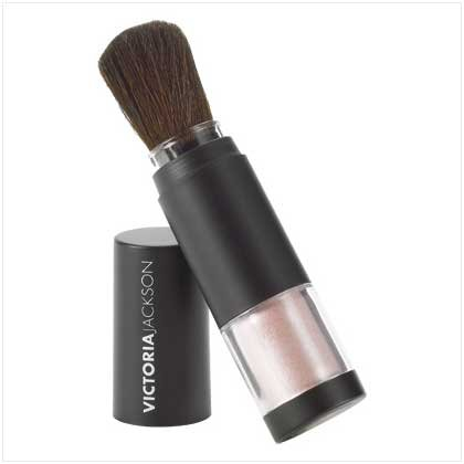 "VICTORIA JACKSON SHIMMER POWDER BRUSHES  ""BABY DOLL PINK"""