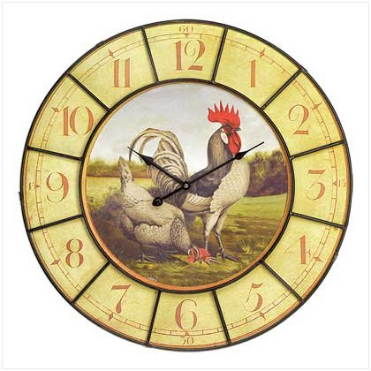 OVERSIZED ROOSTER CLOCK (FREE SHIPPING)