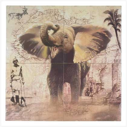 ELEPHANT WALL MURAL~free shipping~