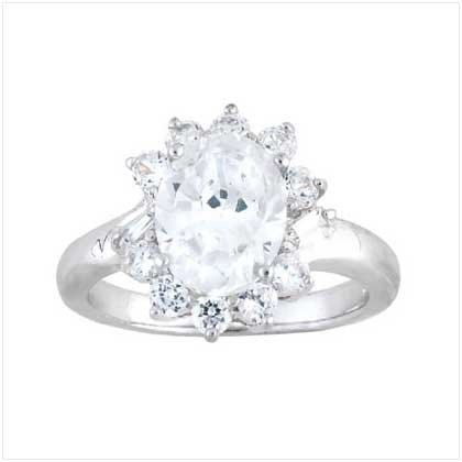 Cubic Zirconia Princess Ring