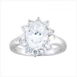 Cubic Zirconia Princess Ring