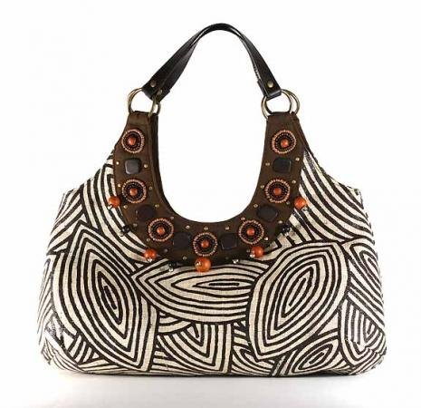 Gypsy - Large Tote Bag w/ Flat Leather Handle