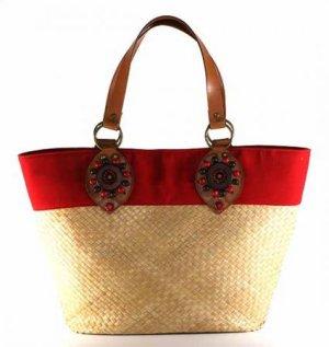 Kenya - Small Tote Bag w/ Brown Trim
