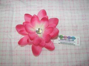 B52-Pink Rhinestone Flower