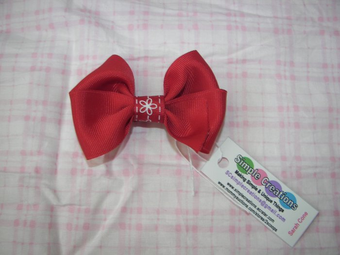 A94- Red Boutique Bow