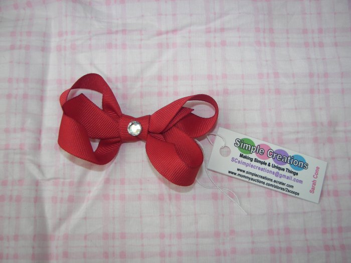 A85- Red Small Boutique Bow