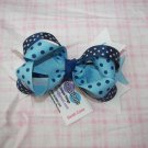 C16- Layered Navy Blue Boutique Bow