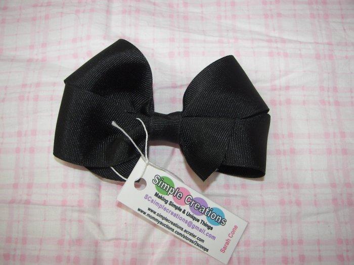 B02- Simple Black Boutique Bow