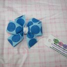 B93- Blue Polkadot Small Pinwheel Bow