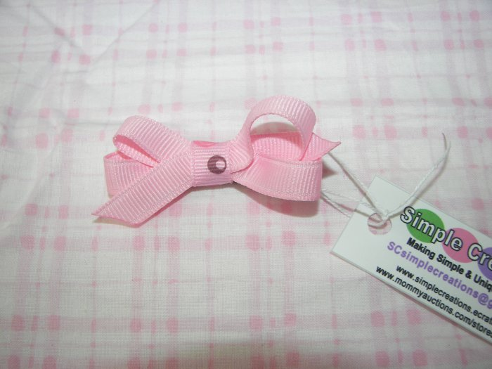 A91-Pink Tiny Boutique Bow