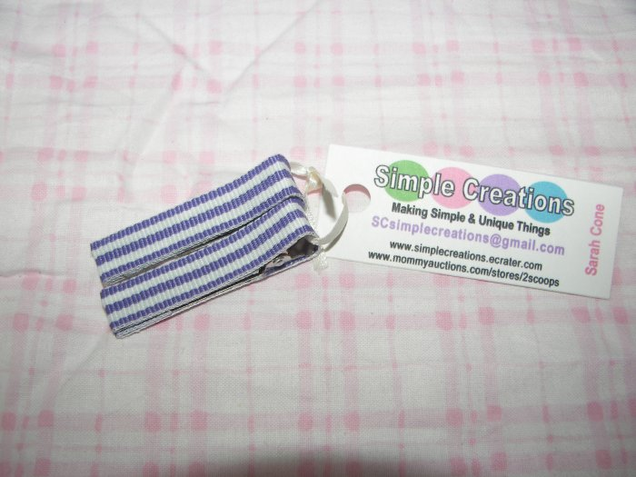 A50- Purple Striped Simple Clip Set