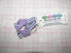 A47- Purple Dragonfly Simple Clip Set
